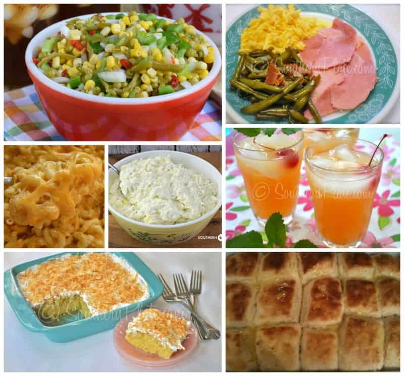 Easter Menu Collage