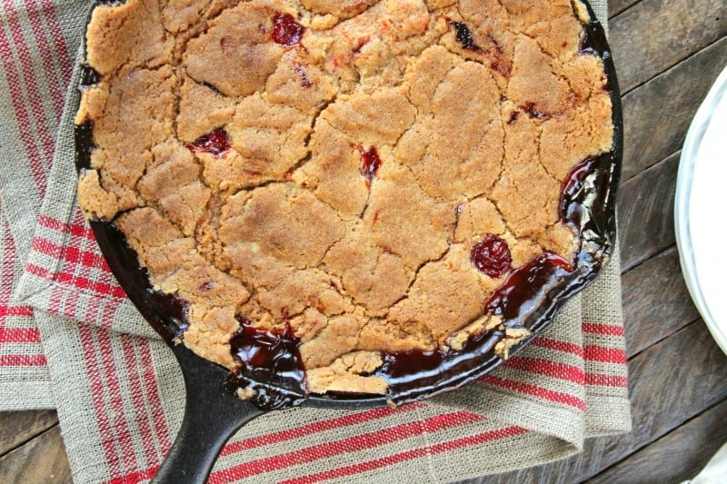 Skillet Cherry Cobbler - and a Pigeon Forge Adventure with Friends
