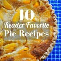 pie recipes graphic