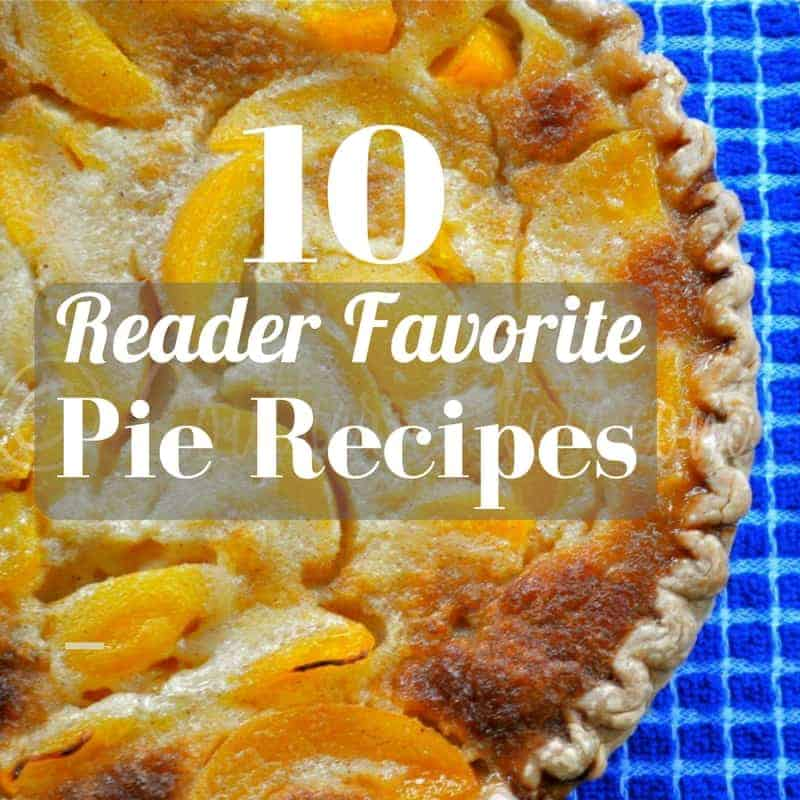 pie recipes graphic