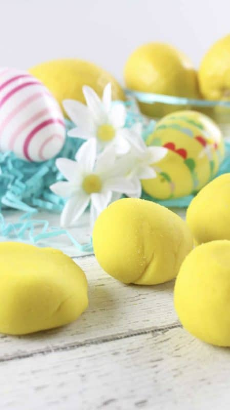 Homemade Lemon Scented Play Dough!
