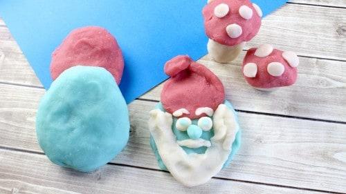 Homemade Smurf's Play Dough