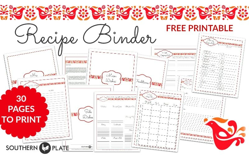 Get my FREE Printable Recipe Binder Set to help you organize all of your favorite internet recipes when you sign up for my FREE Recipe Newsletter!