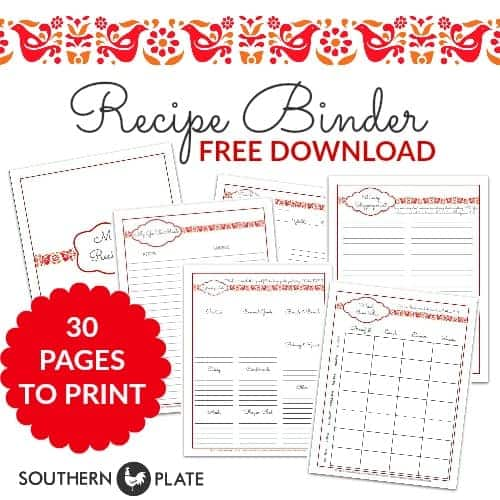 Free Printable Recipe Binder Set