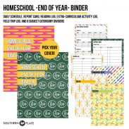 Homeschool End Of Year Binder Printable