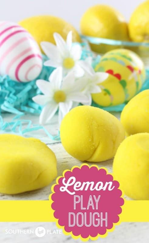 Homemade Lemon Scented Play Dough!