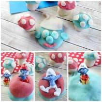 smurf play dough fun