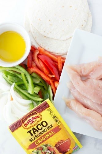 Easy Sheet Pan Chicken Fajitas - and disappearing accents