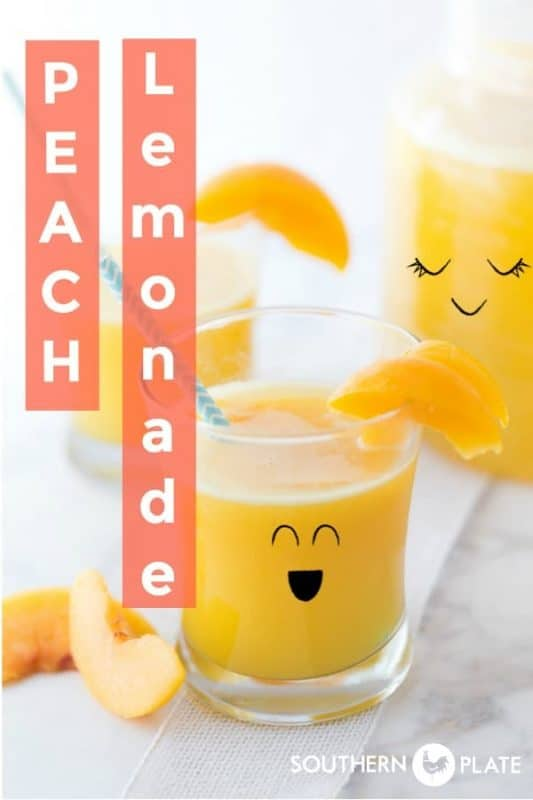 Peach Lemonade - 2 Ingredients & Sugar Free!