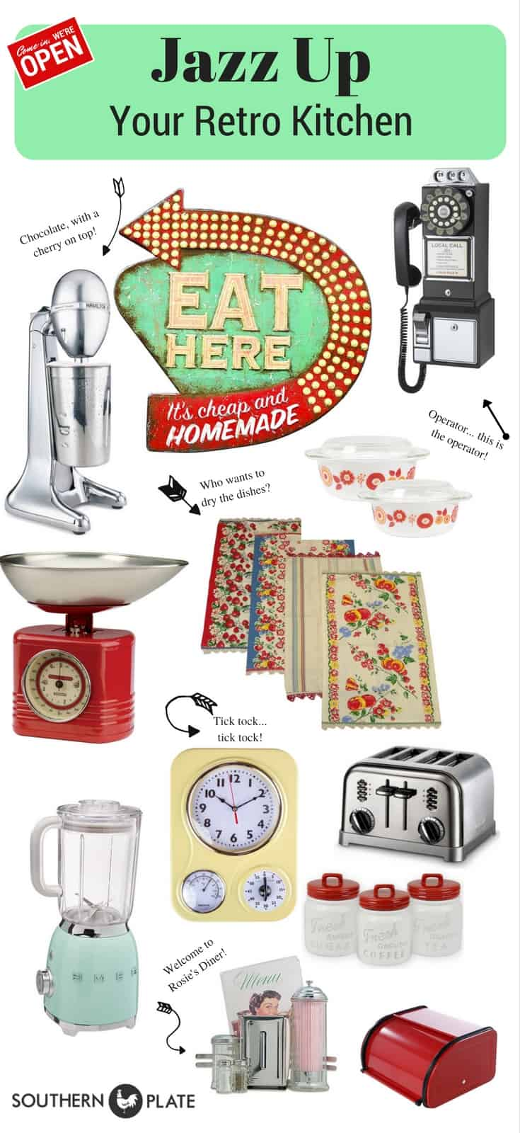 Retro Kitchen Decor Roundup!