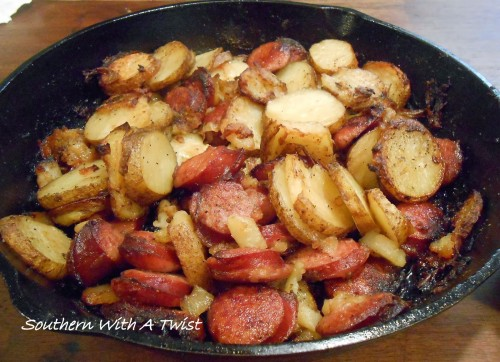 sausage and greek potatoes