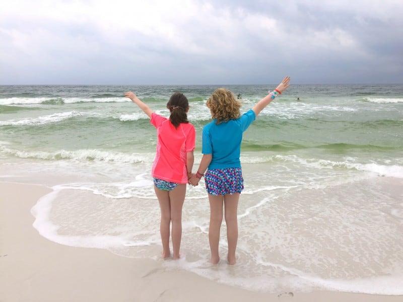 the girls on the beach at Hilton Sandestin