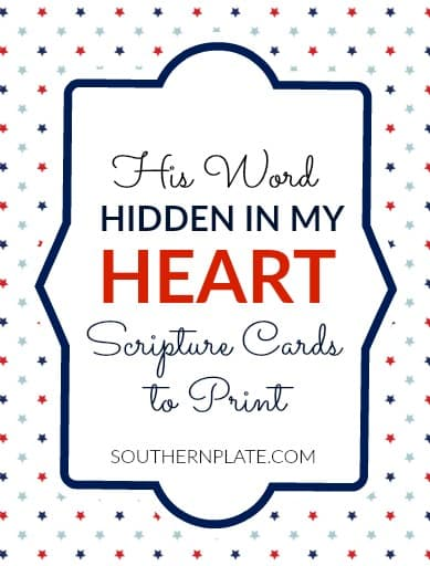 Southern Plate Scripture Cards - JULY TITLE