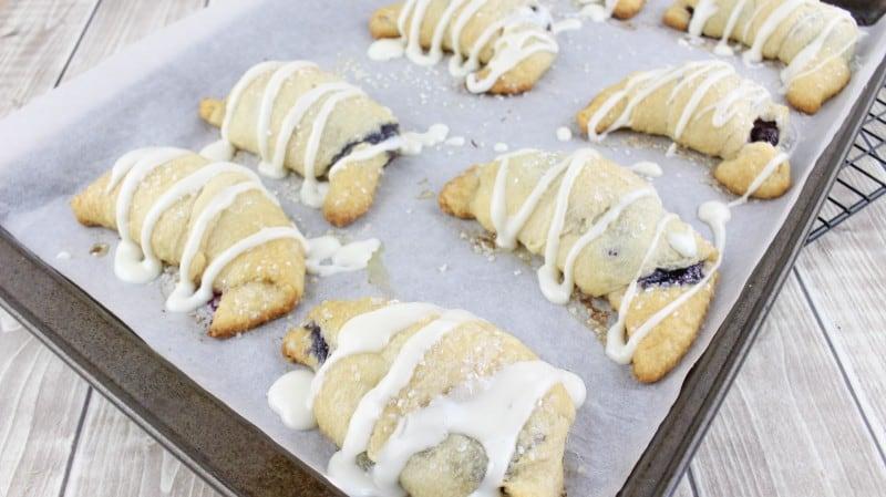 Blueberry Cream Cheese Danish (from crescent rolls!)