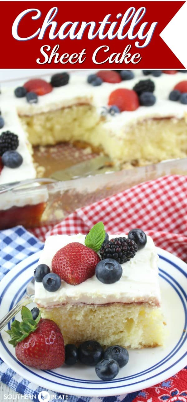 Chantilly Sheet Cake from SouthernPlate