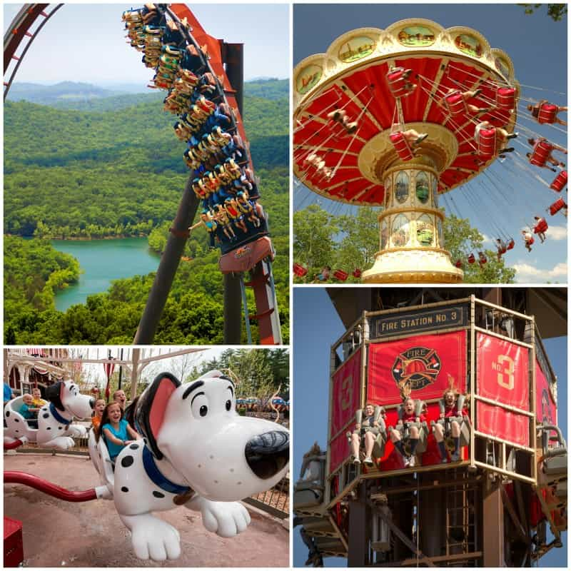 some rides at silver dollar city