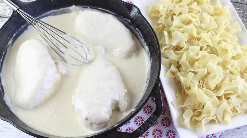 Chicken with Sour Cream Gravy - And Encouragement for Young Married Folks