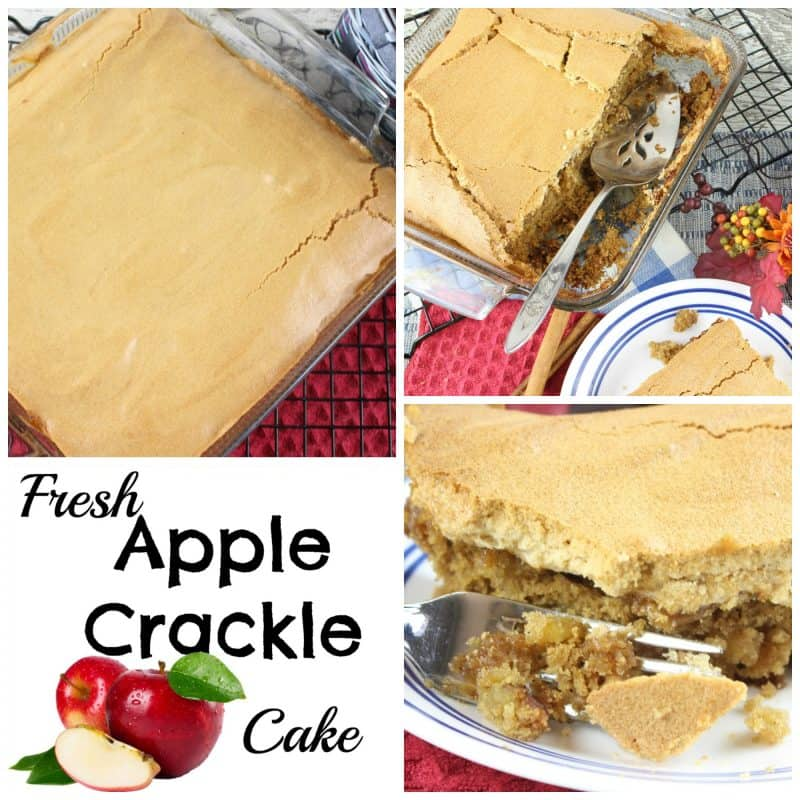 Fresh Apple Crackle Cake