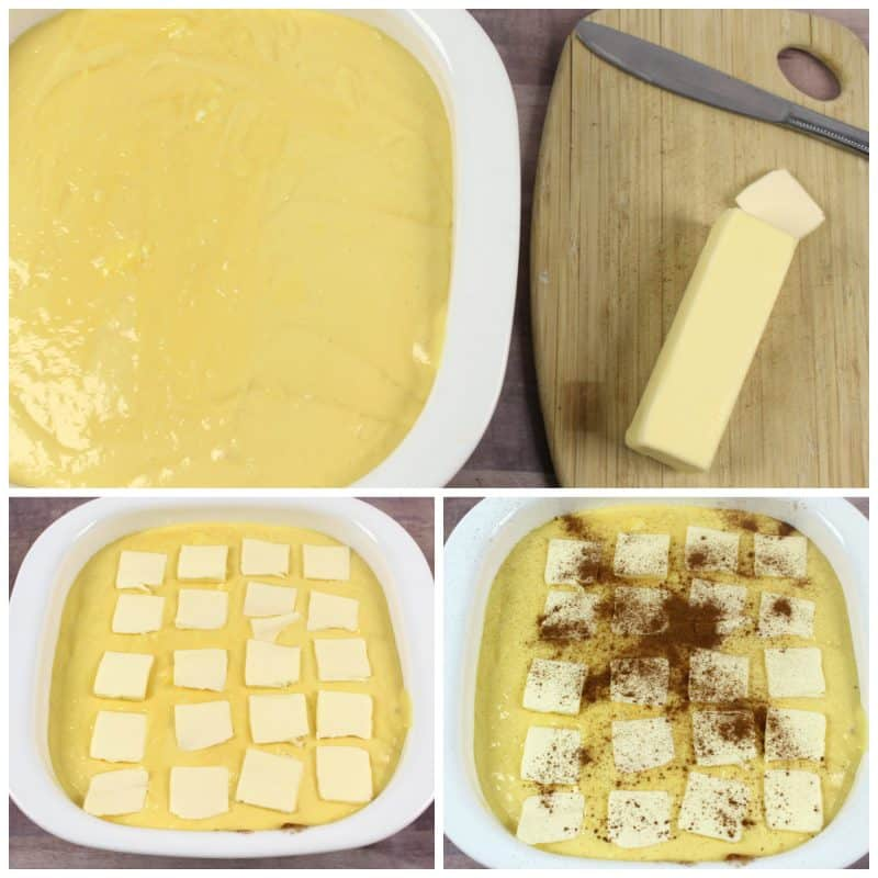 butter and cinnamon dump cake