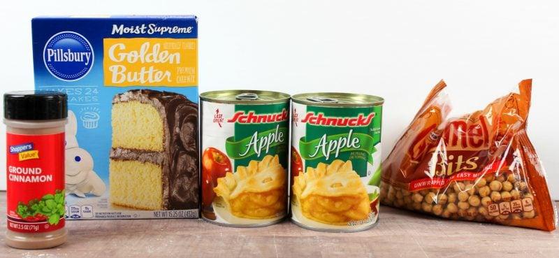 Caramel Apple Dump Cake ingredients