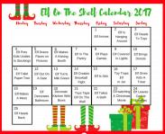 Elf on The Shelf Calendar of Ideas!