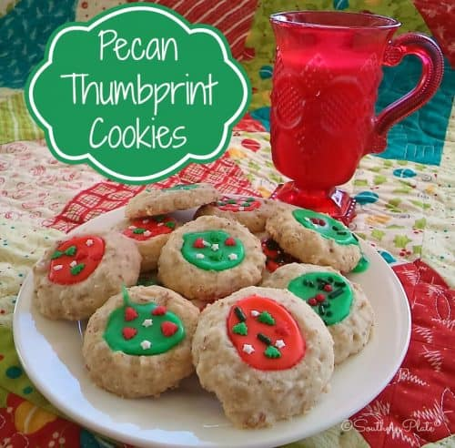 Pecan Thumbprint Cookies