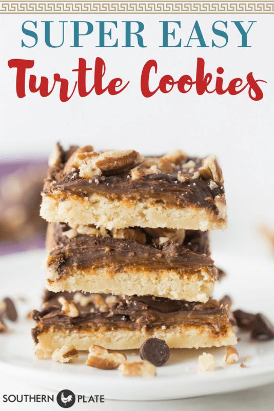 Super Easy Turtle Cookies