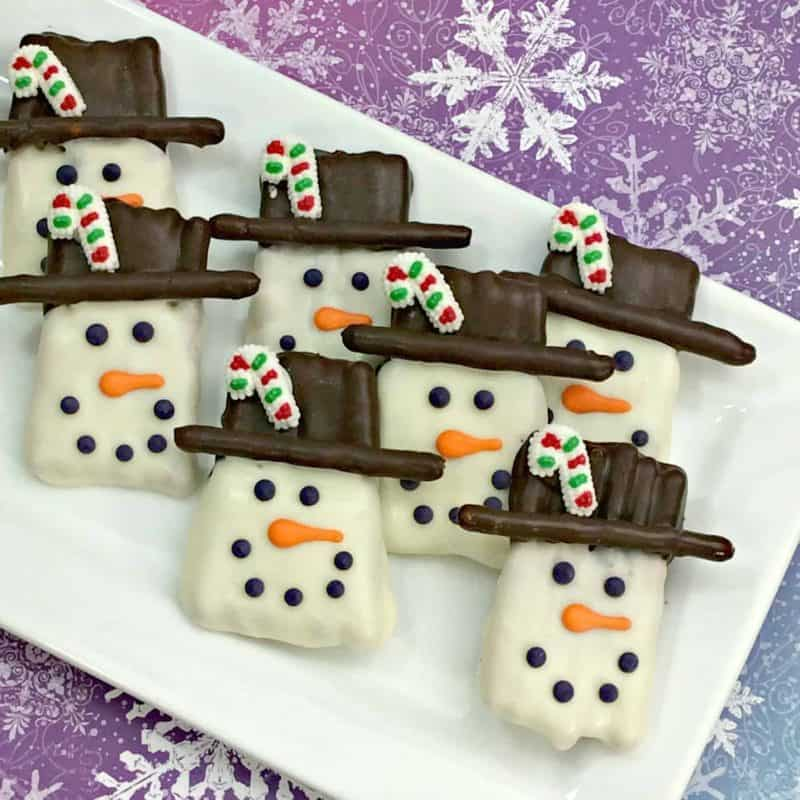 Festive Snowman Pretzels