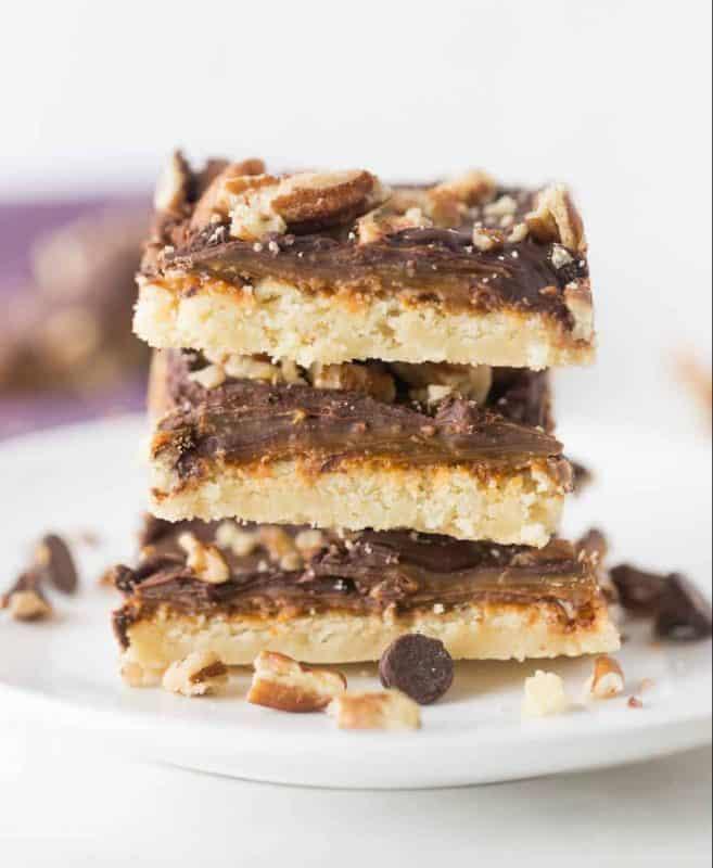 Easy Turtle Cookie Bars