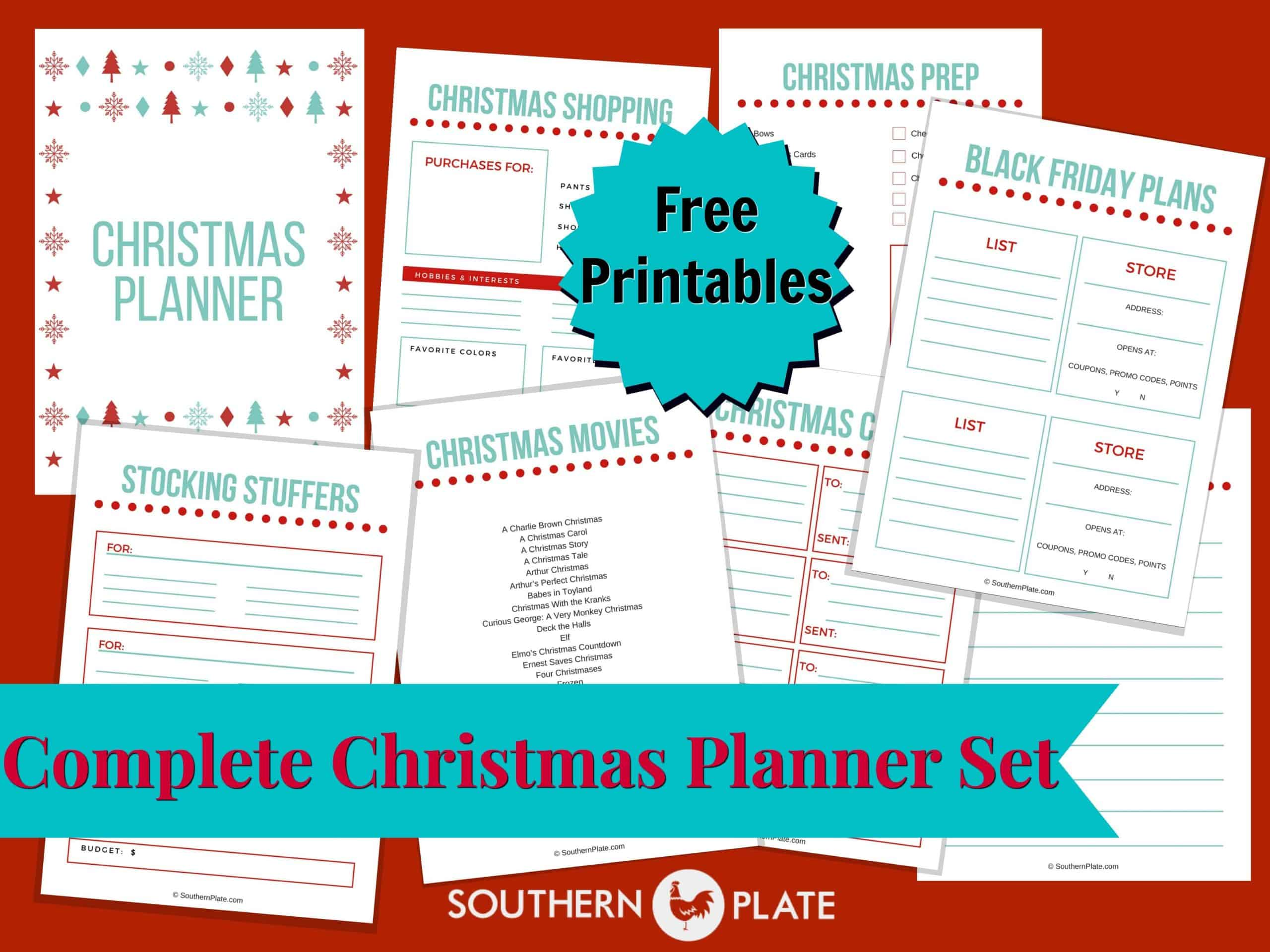Free Christmas Planner Printables Southern Plate