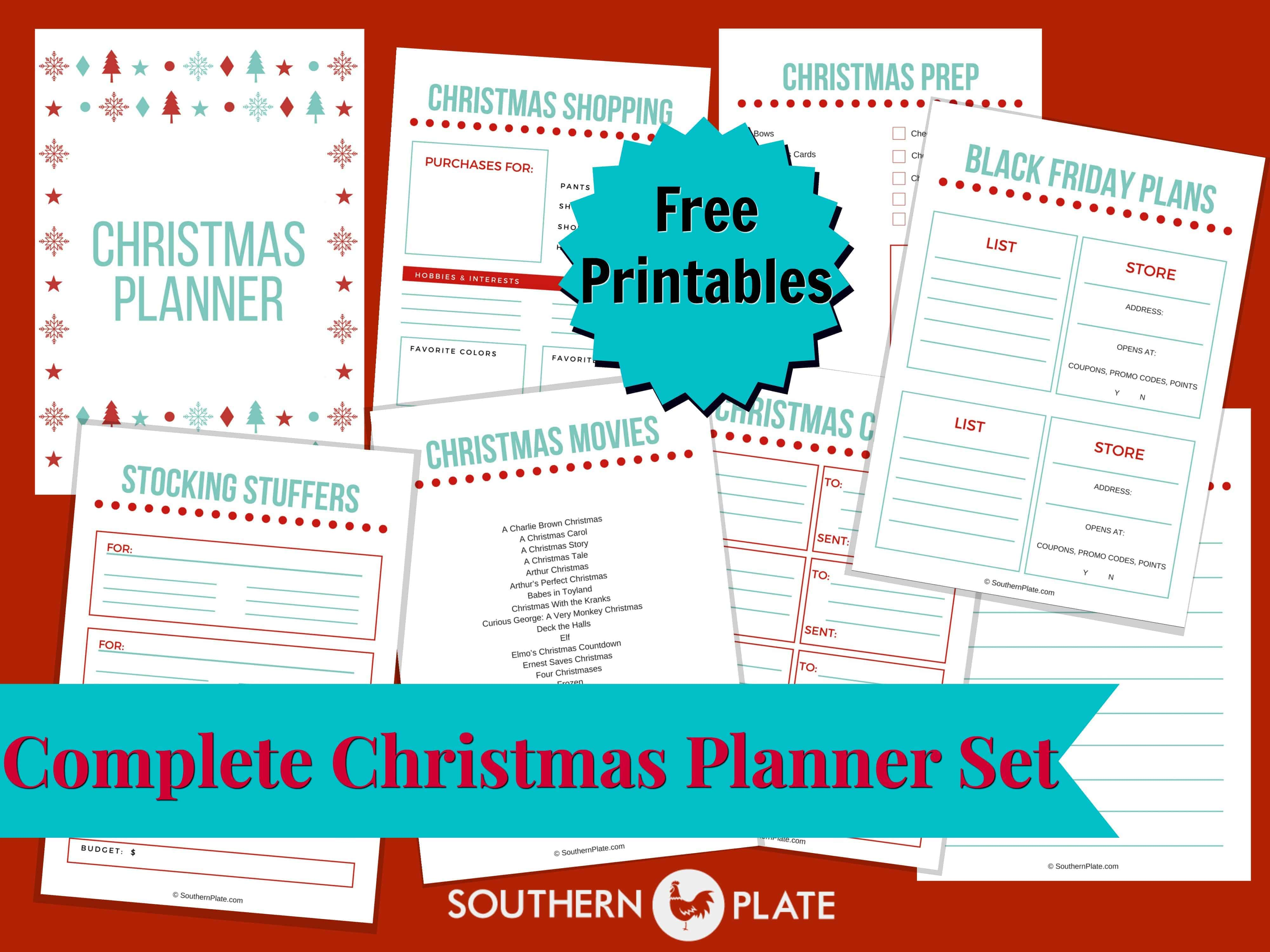 photo relating to Thanksgiving Planner Printable referred to as Free of charge Thanksgiving Planner Printables - Southern Plate