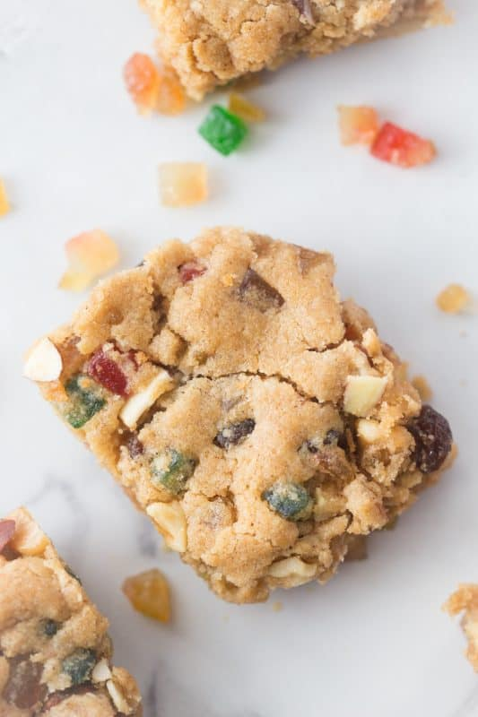 Fruit Cake Bar Cookies