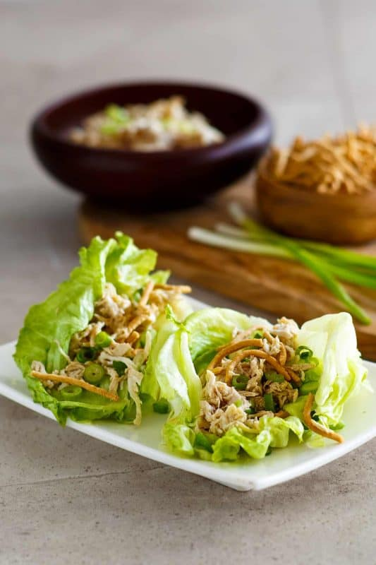 AMAZING & EASY Crock Pot Chicken Lettuce Wraps