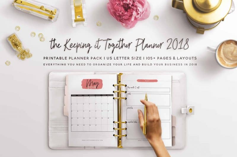 2018 Keeping It Together Planner - FREE!