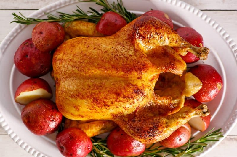 Rotisserie Style Crock Pot Chicken and Potatoes
