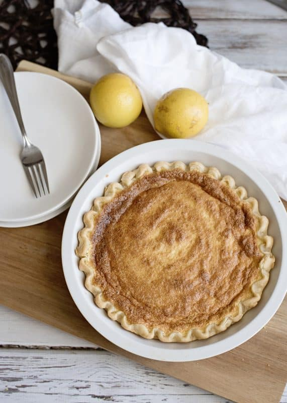 Lemon Chess Pie - Old fashioned recipe, so simple and good!
