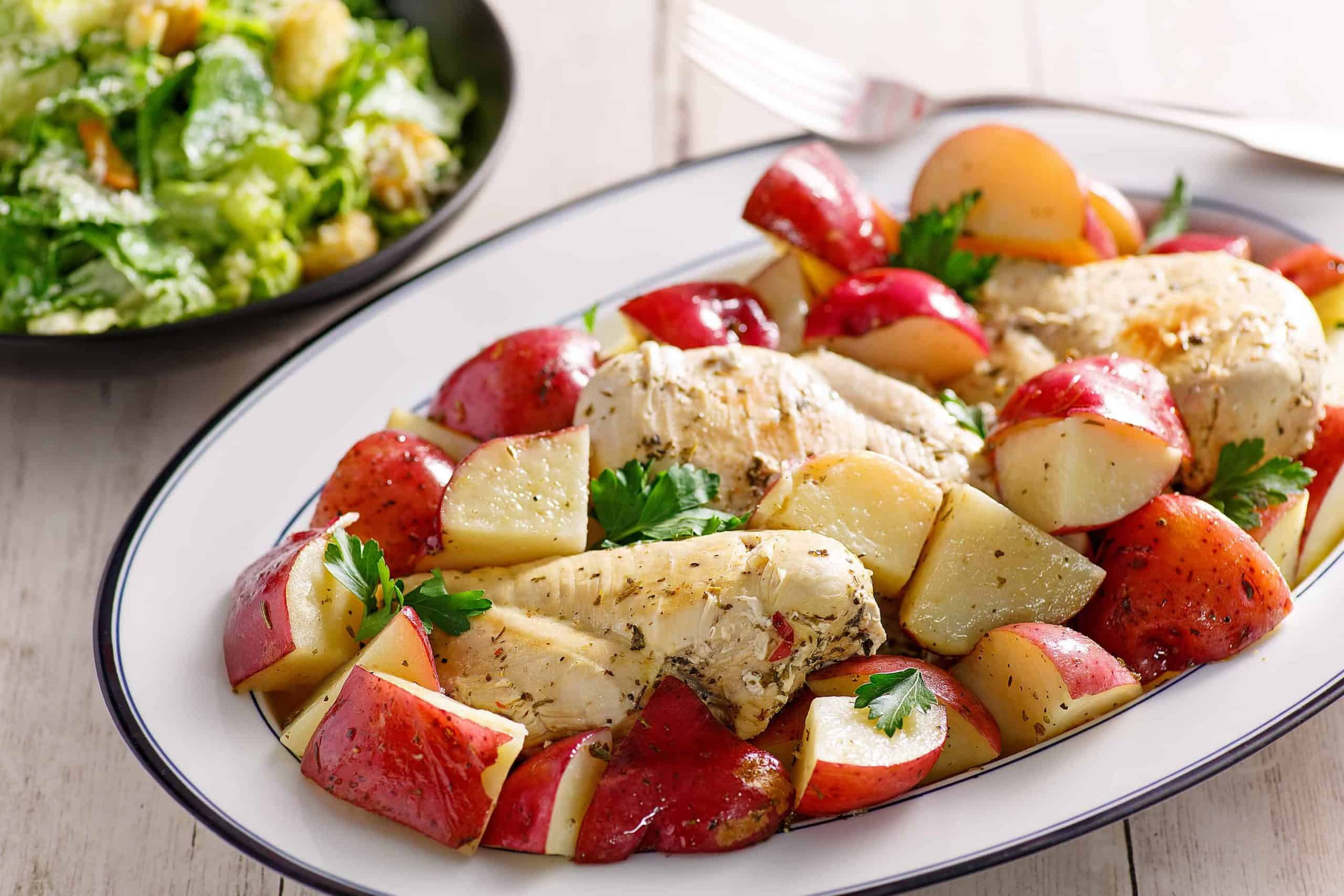Italian Chicken And Potatoes A Simple Crock Pot Meal Southern
