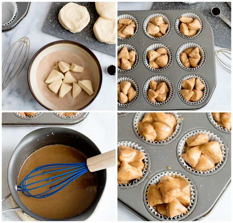 Making Monkey Bread Muffins - quick and easy!