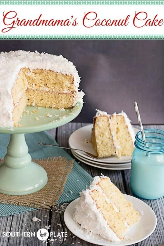 Grandmama's Coconut Cake with No Fail Seven Minute Frosting
