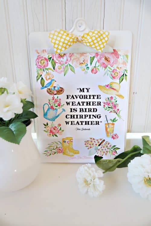 Happy Springtime Printable! You won't believe how easy this is!