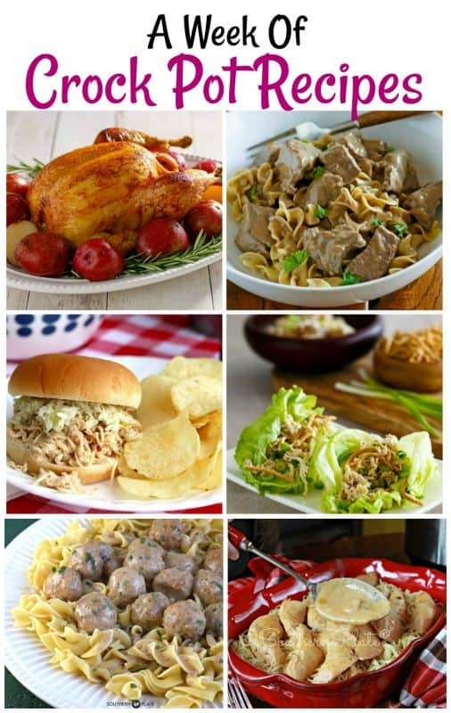 A Week of Crock Pot Recipes - Plus Get Your FREE Online Recipe Box!