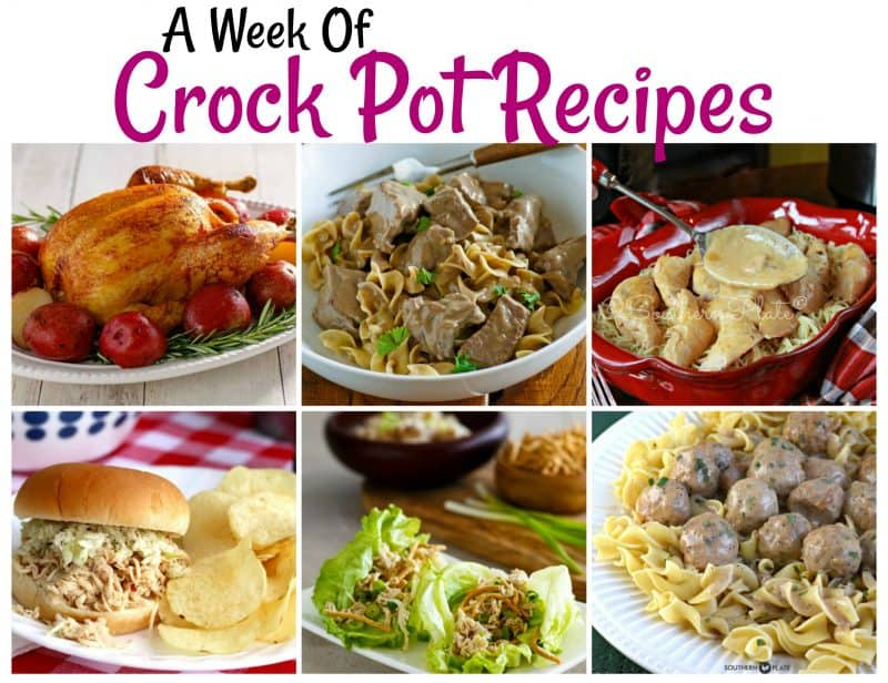 A Week of Crock Pot Recipes