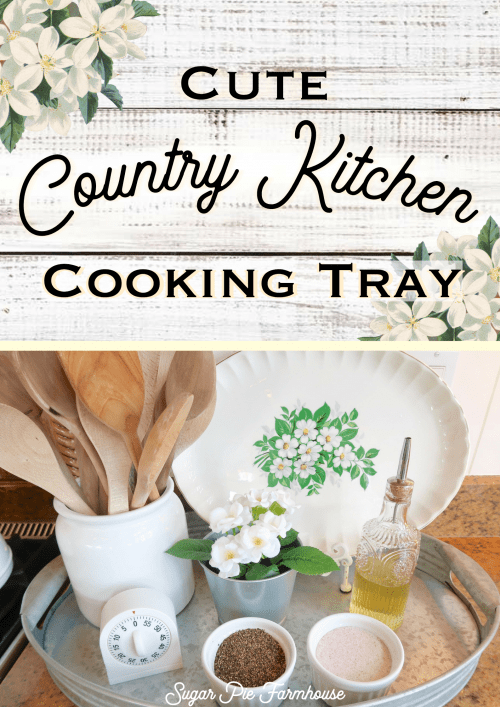 Cute Country Kitchen Cooking Tray!