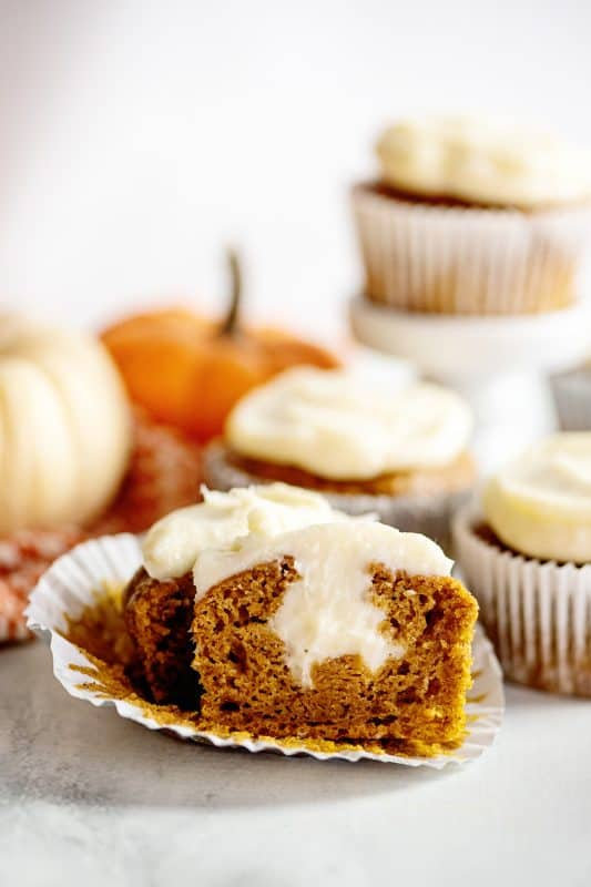 Pumpkin spice muffin half