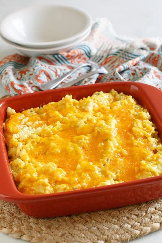 Cheesy Chicken and Rice - Oven Version