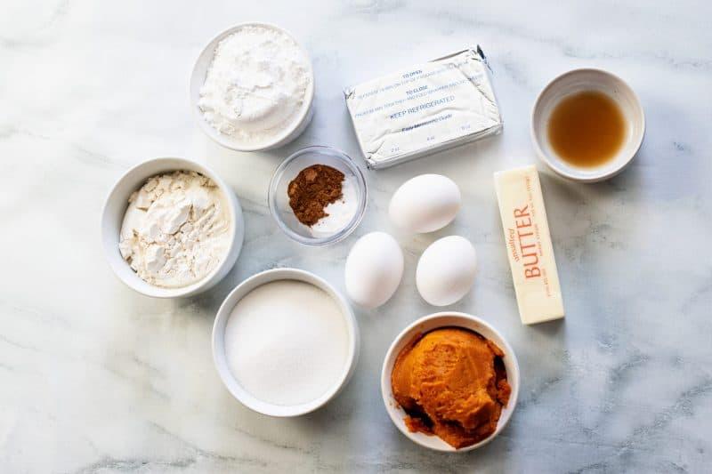 ingredients pumpkin cream cheese cupcakes