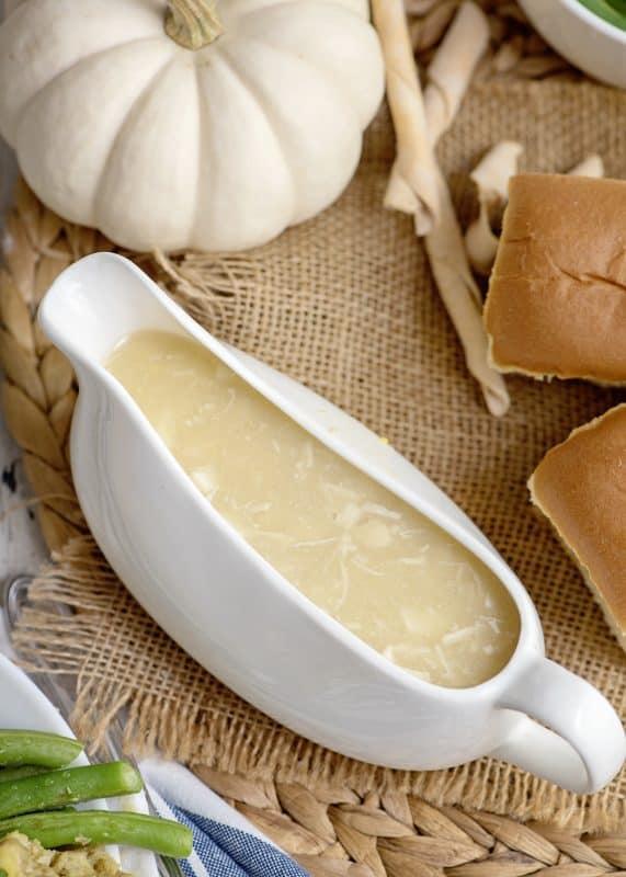 Yummy bowl of Turkey Gravy Southern Plate