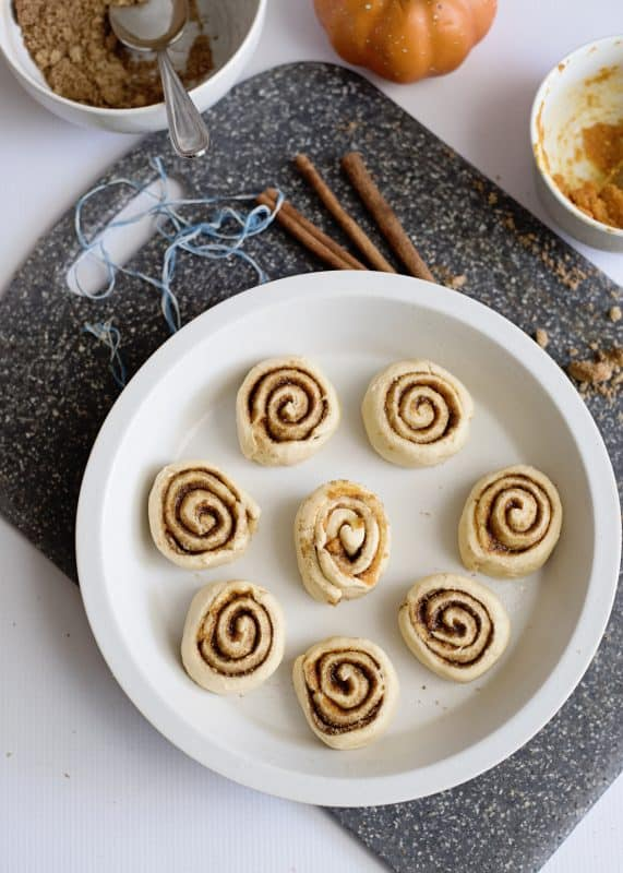 Quick and Easy Pumpkin Spice Cinnamon Rolls