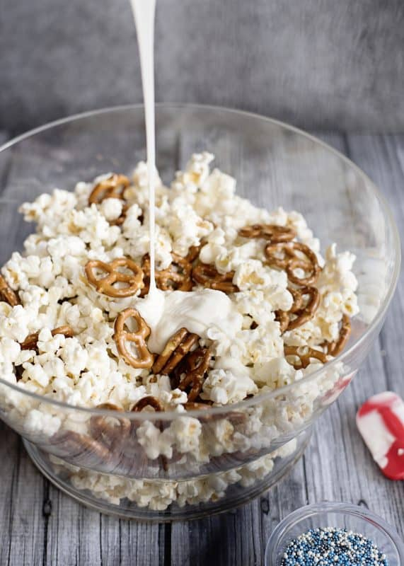 Holiday Popcorn Crunch- and Shifting our Holiday Focus