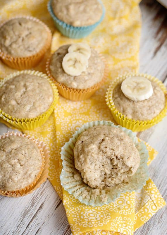 Low Sugar Banana Muffins - Katy's Favorite!